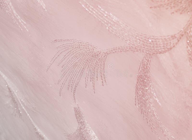 Tekstura, tło, wzór Tiul pastelowych menchii brzmienia Abstra zdjęcia stock