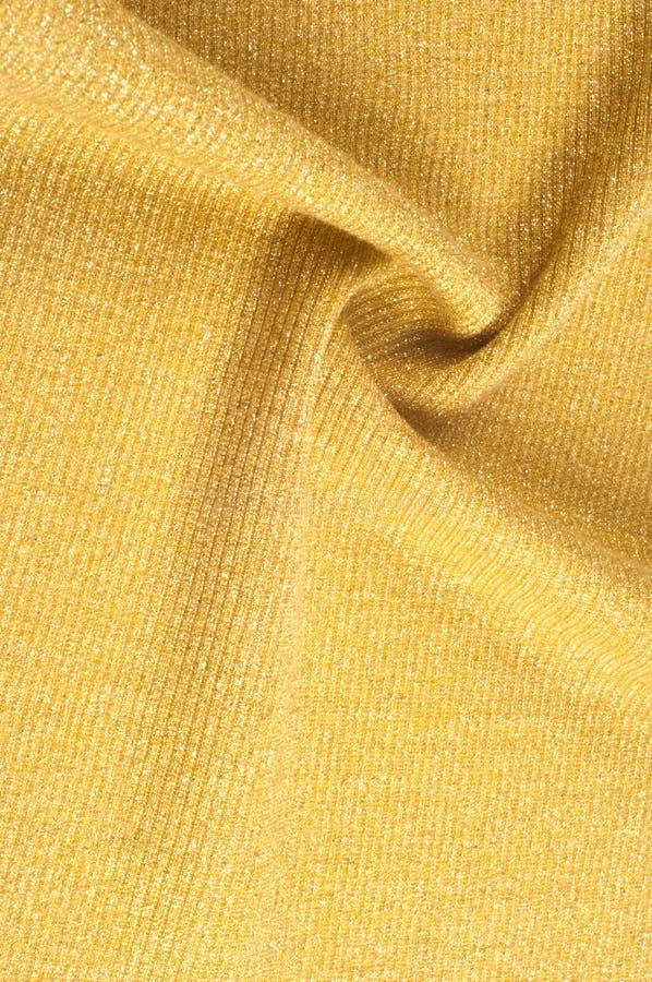 Tekstura, tło, wzór Tkanina złoty odcień Brązowy Sha fotografia royalty free