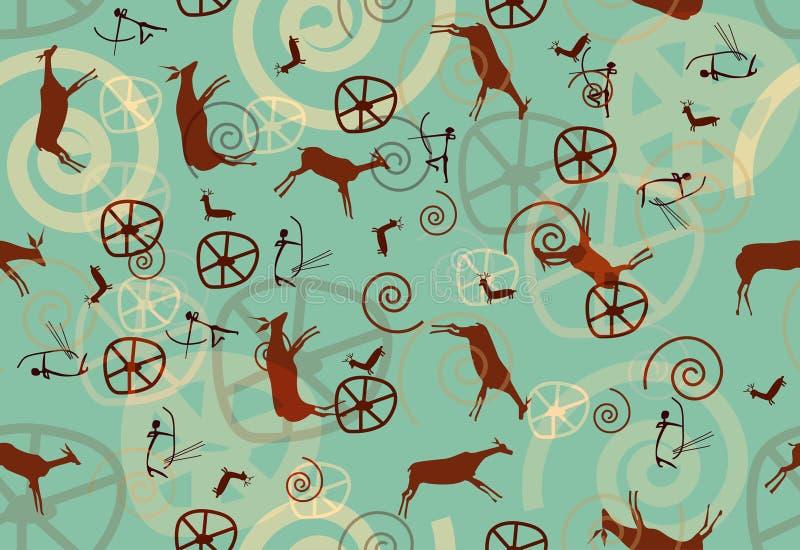 tekstura TARGET1372_1_ rockowy bezszwowy wektor ilustracja wektor
