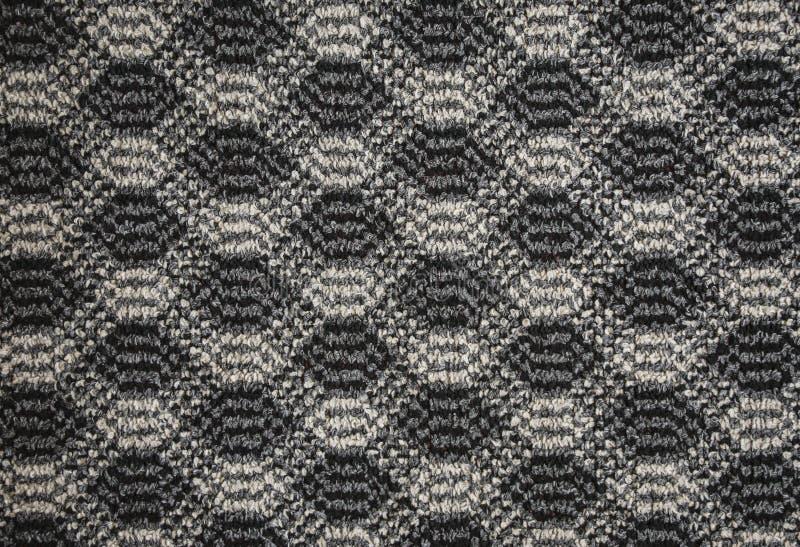 Tekstura tekstylny dywanik z wzorem zdjęcie royalty free