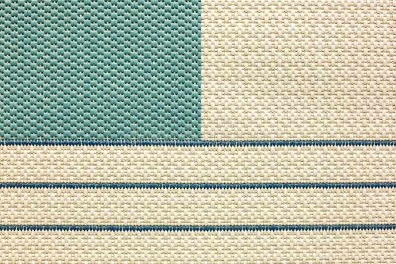 Tekstura tkany dywanik na podłoga, paskująca obraz royalty free