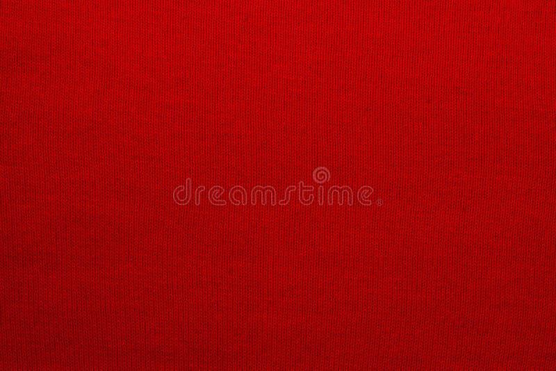 Tekstura trykotowa woolen tkaniny czerwień obrazy stock