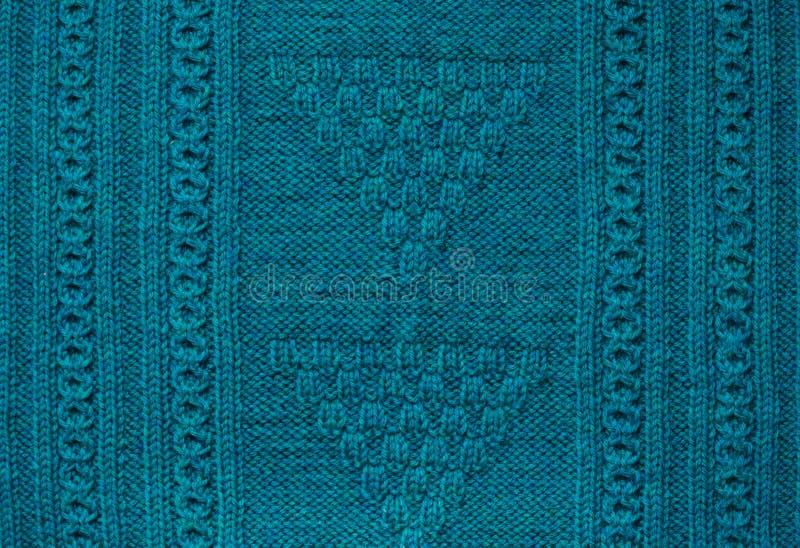 Tekstura trykotowy handmade Bożenarodzeniowy puloweru zakończenie up abstrakcyjny tło zdjęcie royalty free
