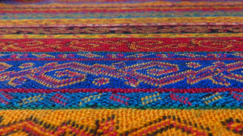 Tekstura Turecki makaty Tablecloth zdjęcie stock