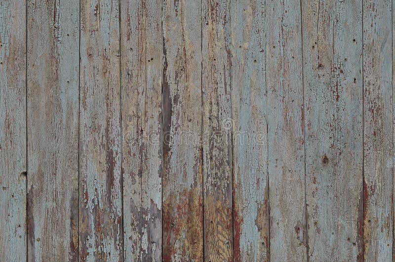 Tekstura wietrzejąca drewniana ściana Starzejący się drewniany deski ogrodzenie pionowo mieszkanie deska zdjęcia stock