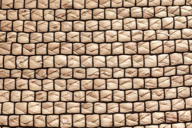 Tekstura wyplata słoma, dywan obrazy stock