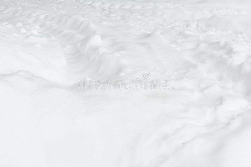 Tekstura zamknięta w górę biały śnieg Pustego miejsca lekki tło zdjęcia royalty free