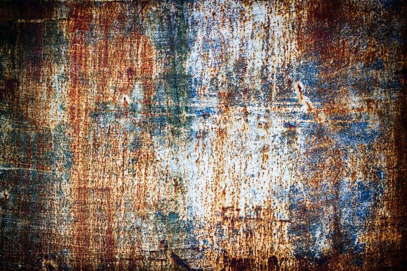 Tekstura zrudziały metal, stalowy prześcieradło pokrywający z korodowaniem Stary ir obraz stock