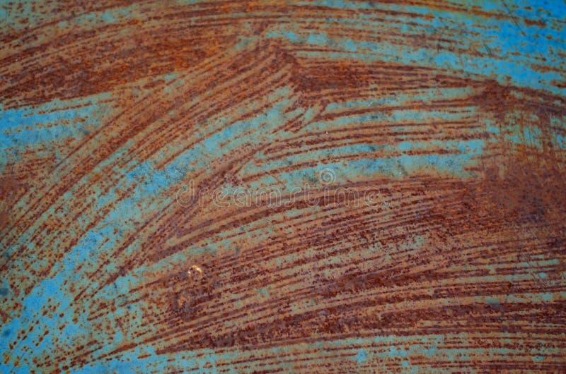 Tekstura zrudziały Niezwykły tło dla projekta Pomarańcze łącząca z błękitem obraz royalty free