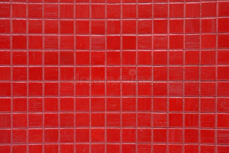 Tekstury - łazienek Błyszczące Czerwone płytki Jaskrawe, Kolorowy, obrazy stock
