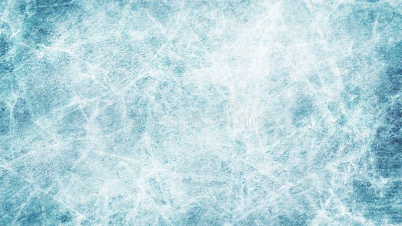 Tekstury błękita lód Lodowy lodowisko tło płatków śniegu biały niebieska zima Zasięrzutny widok ilustracyjny natura royalty ilustracja