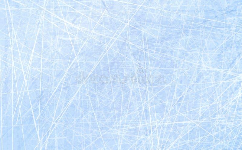 Tekstury błękita lód Lodowy lodowisko tło płatków śniegu biały niebieska zima Zasięrzutny widok Wektorowy ilustracyjny natury tło ilustracja wektor