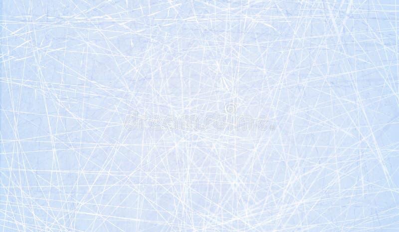 Tekstury błękita lód Lodowy lodowisko tło płatków śniegu biały niebieska zima Zasięrzutny widok Wektorowy ilustracyjny natury tło royalty ilustracja