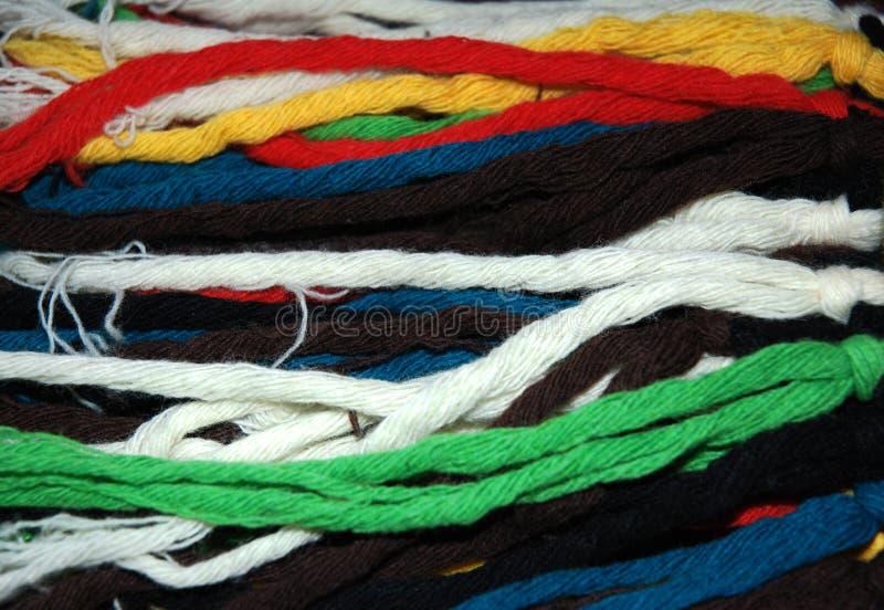 tekstury barwiona wełna obraz stock