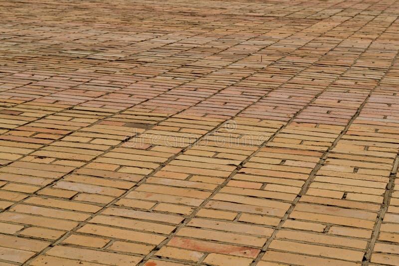 Tekstury brickwork Ampuły ściana żółta cegła zdjęcie royalty free