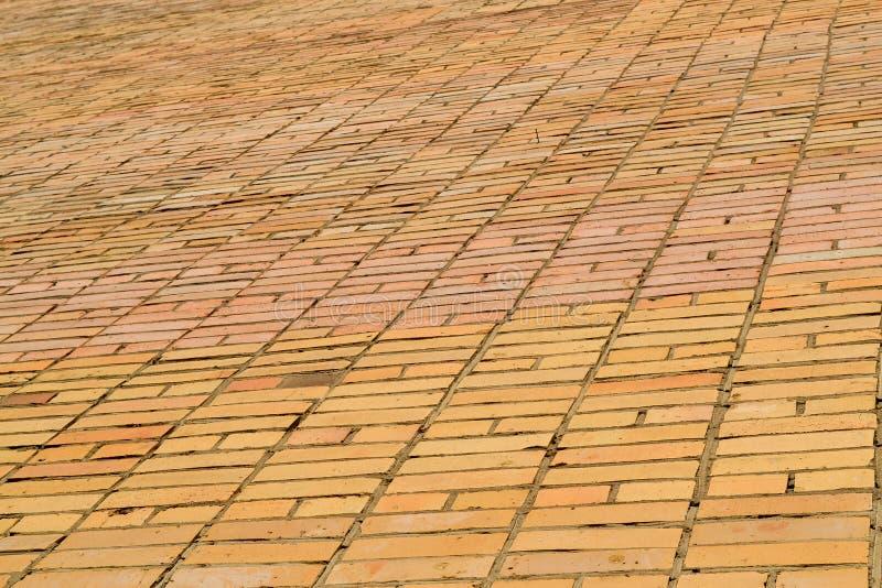 Tekstury brickwork Ampuły ściana żółta cegła zdjęcie stock