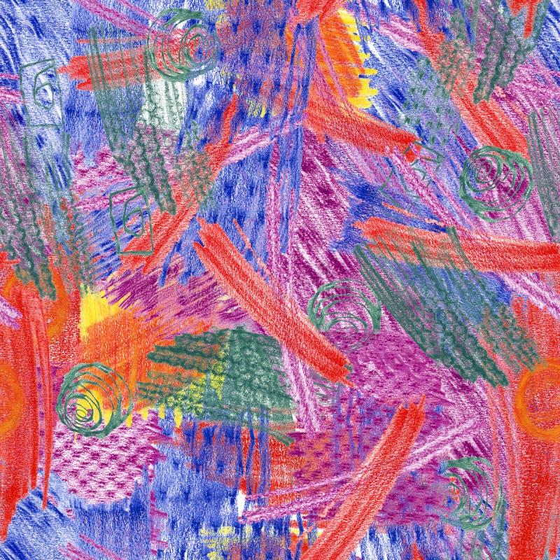 tekstury frottage bezszwowa tekstura ilustracji
