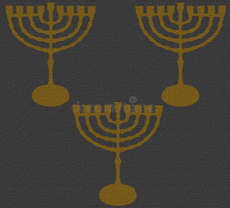 Tekstury Hanukkah szarość 2016 ilustracji