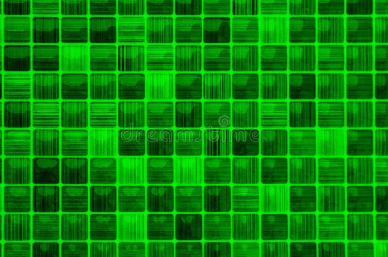 Tekstury mozaiki zielonego koloru mały szklany tło royalty ilustracja