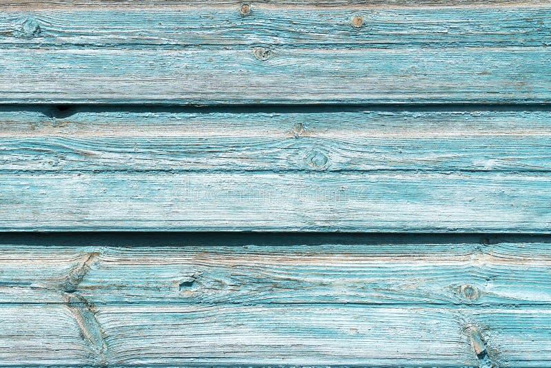 Tekstury stary drewniany błękitny tło Tło drewno z krakingową farbą, stare deski, uwalnia bez przedmiotów sztabka zdjęcie royalty free
