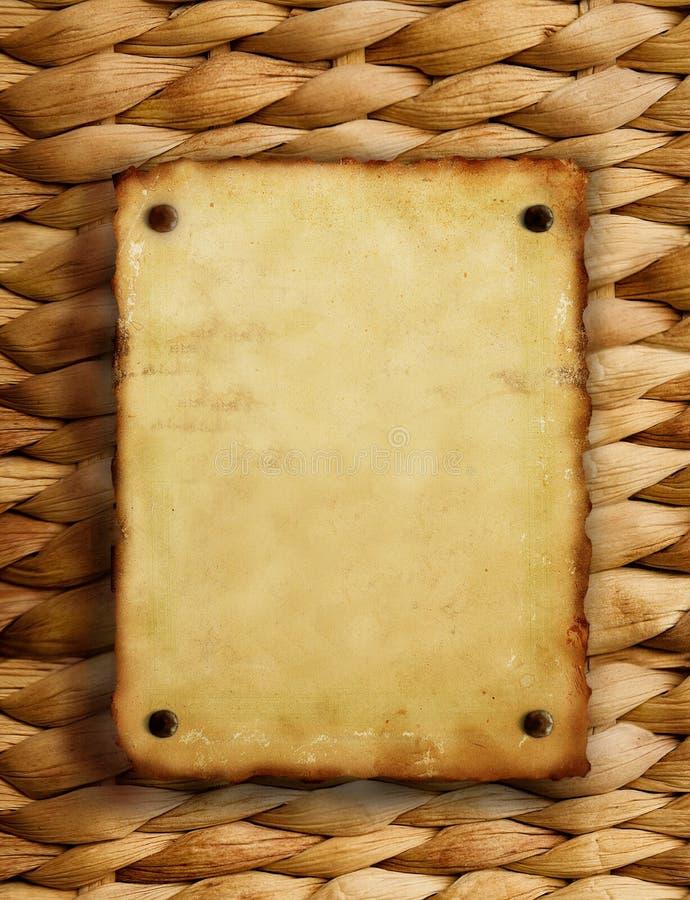 tekstury stary papierowy wicker obrazy stock
