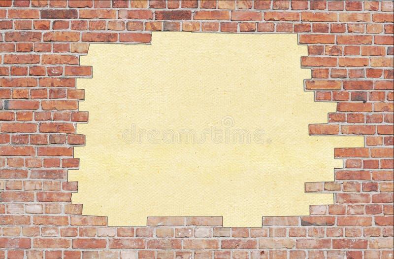 tekstury starzejąca się ceglana ściana zdjęcia stock