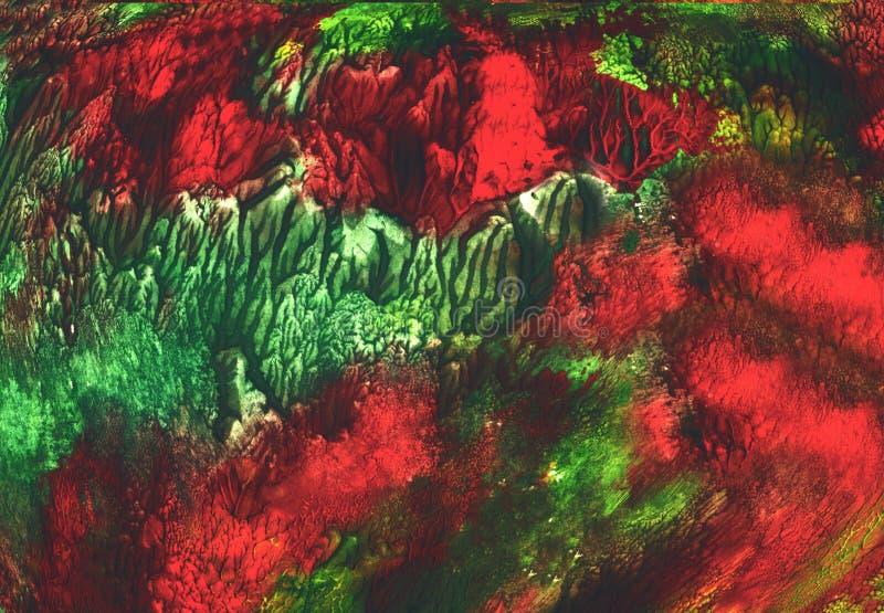 Tekstury tła grunge czarodziejskiego lasu tapety papieru muśnięcia farby sztuki ciemnego błękitnego projekta druku wewnętrzna dek ilustracji