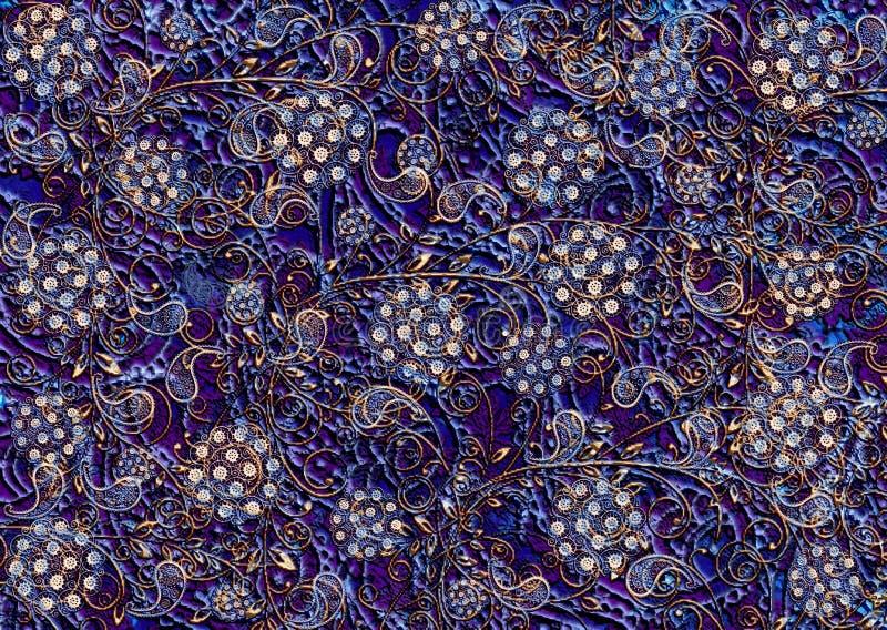 Tekstury tła rocznika tkaniny stary bogaty ornament zdjęcia stock