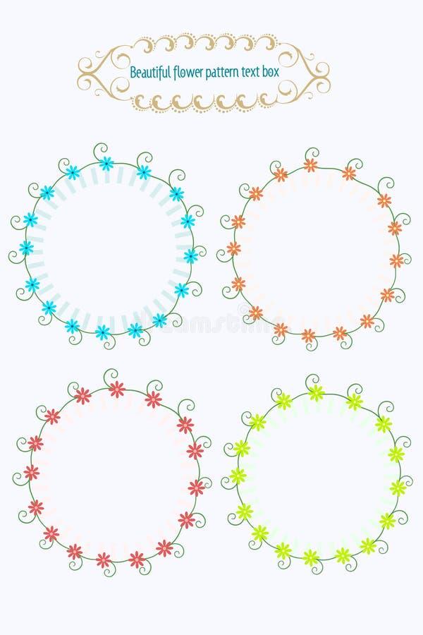 Tekstvak mooie bloemen vector illustratie