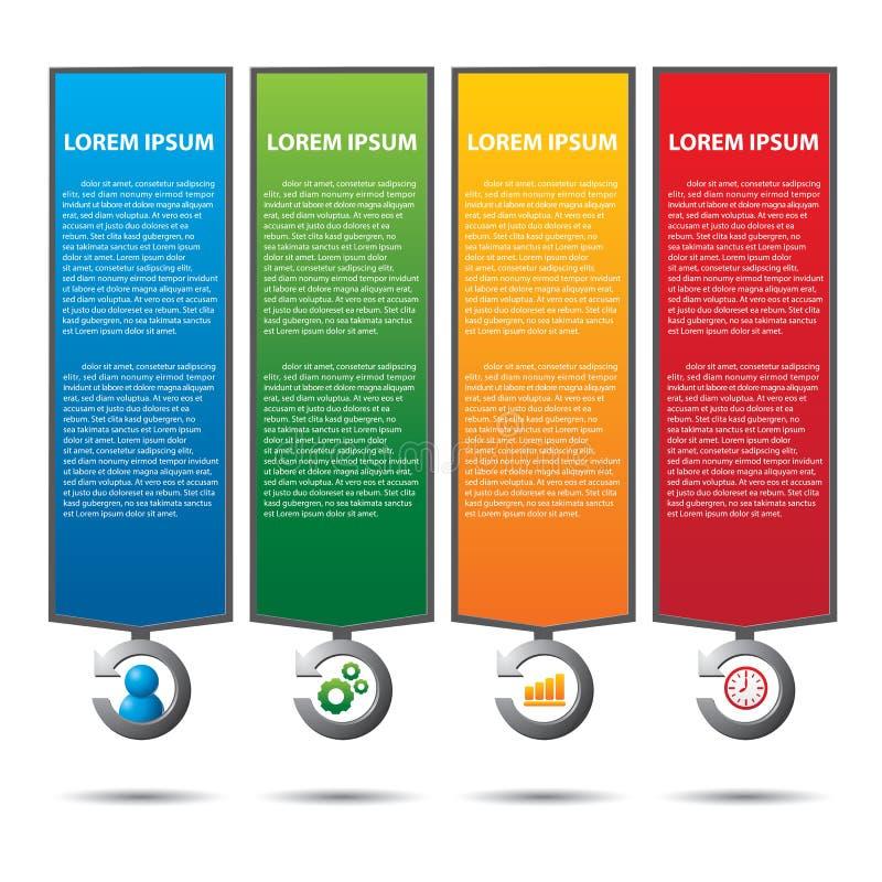 Tekstvakje met bedrijfsstrategiediagram stock illustratie