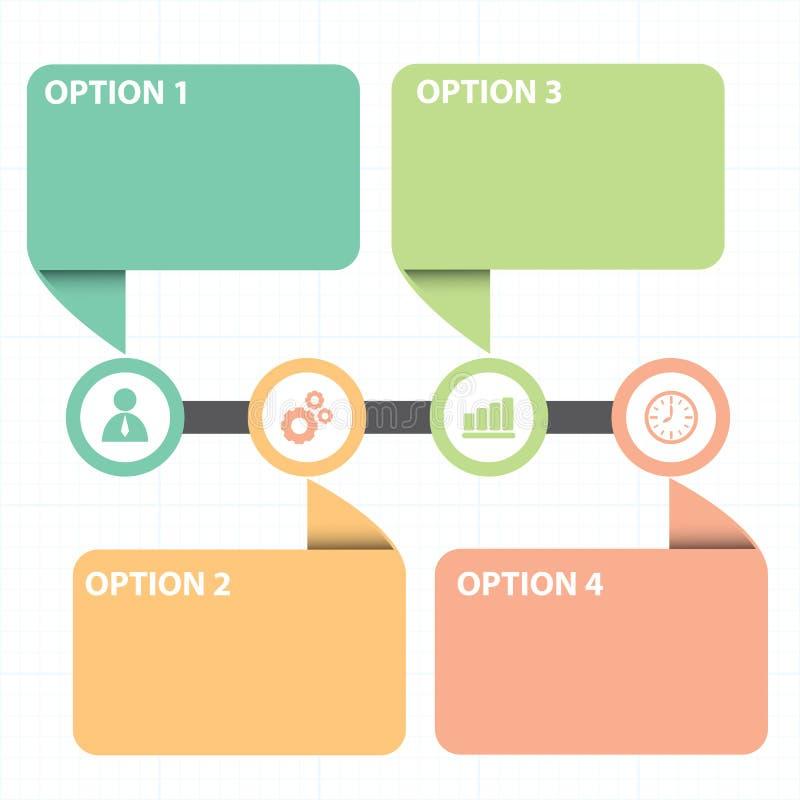 Tekstvakje met lijn bedrijfsstrategiediagram stock illustratie
