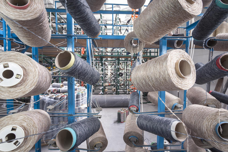 Tekstylna fabryka zdjęcie royalty free