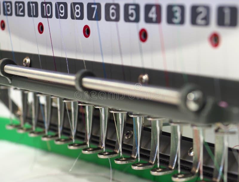 Tekstylna hafciarska maszyna obraz royalty free