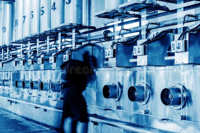 Tekstylna linii produkcyjnej maszyneria, wyposażenie i obrazy stock