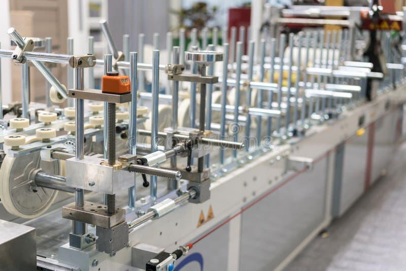 Tekstylna przerobowa maszyna Maszyneria i wyposażenie w przędzalnianej produkci firmie fotografia stock