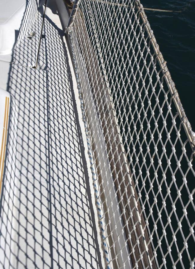 Tekstylna siatki granica na żaglówce zdjęcia royalty free