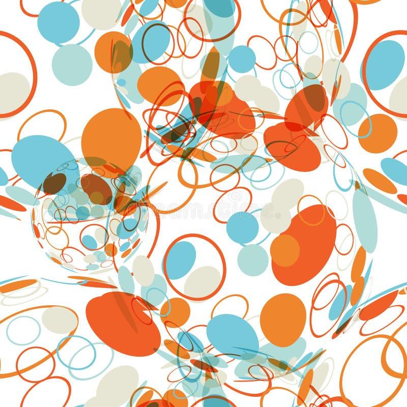 Tekstylny bezszwowy wzór piłki z tekstura okręgami ilustracja wektor