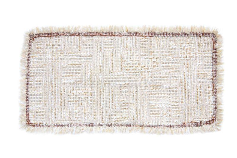 Tekstylny dywanika brąz zdjęcie stock