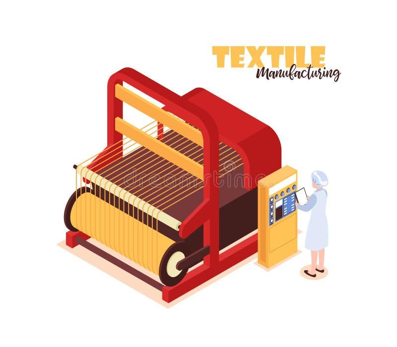 Tekstylny Fabryczny pojęcie ilustracji