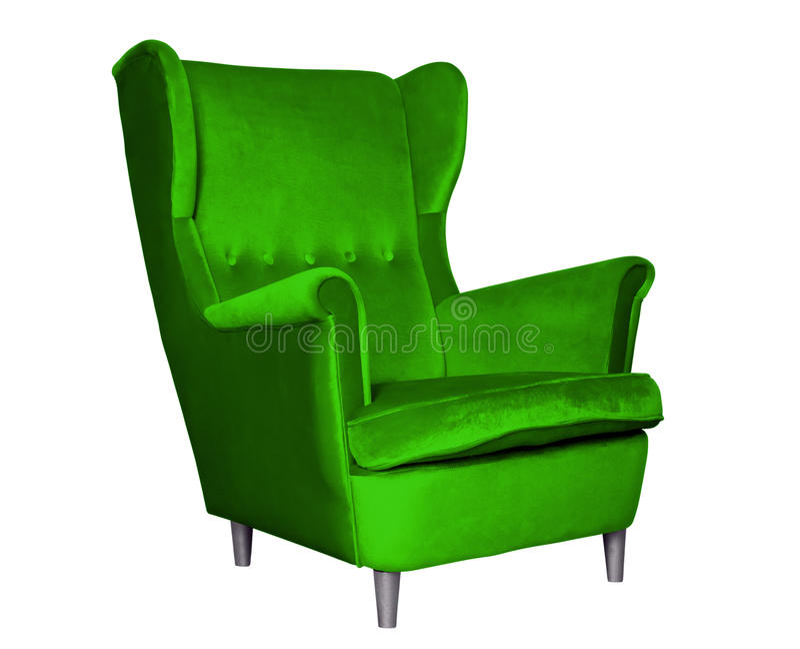 Tekstylny klasyk zieleni krzesło obraz royalty free