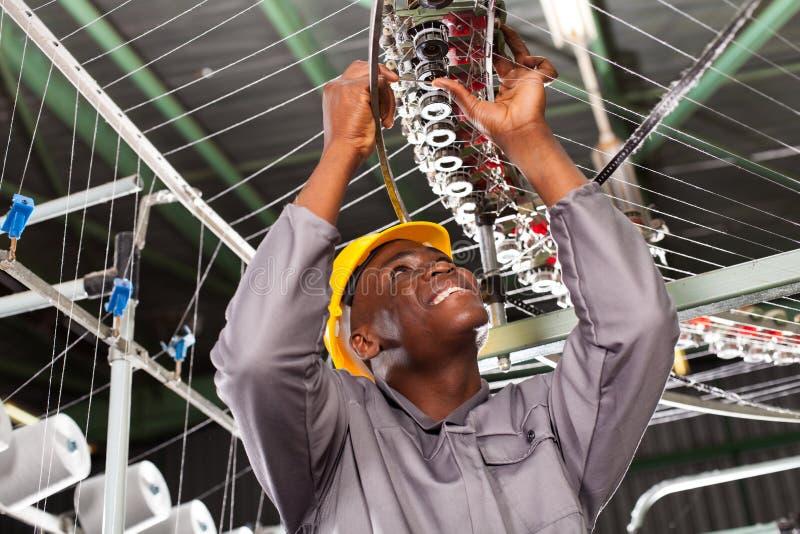 Tekstylny przemysłowy mechanik obraz stock
