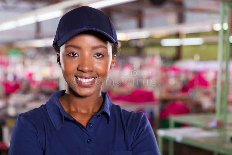 Tekstylny przemysłowy pracownik zdjęcia stock