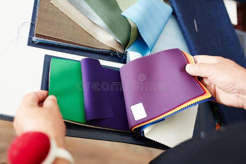 Tekstylny wybór fotografia stock