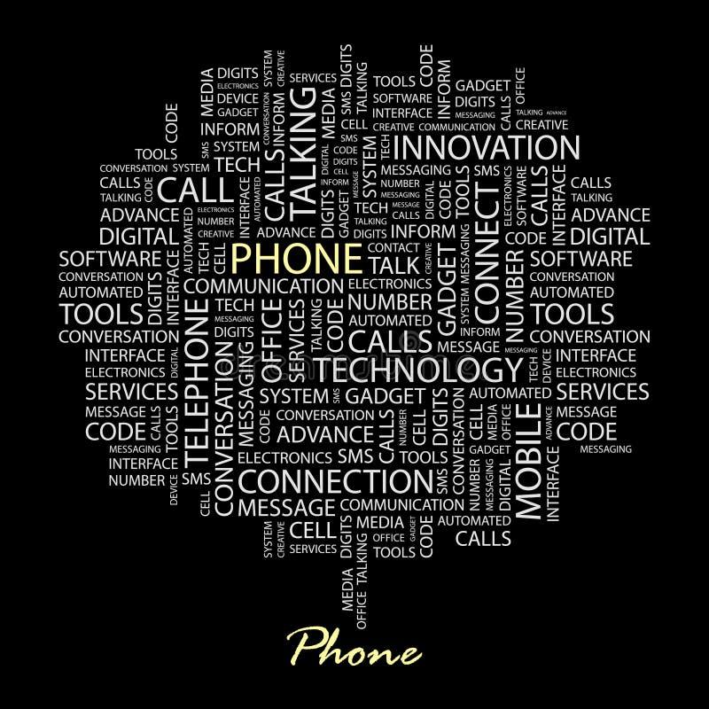 TELÉFONO. ilustración del vector