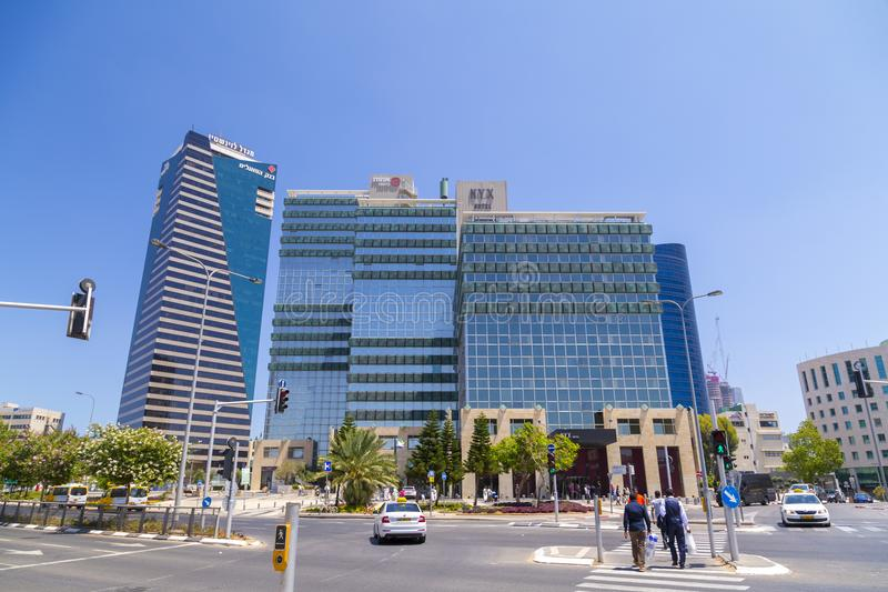 Teléfono Aviv Cityscape, Israel fotografía de archivo