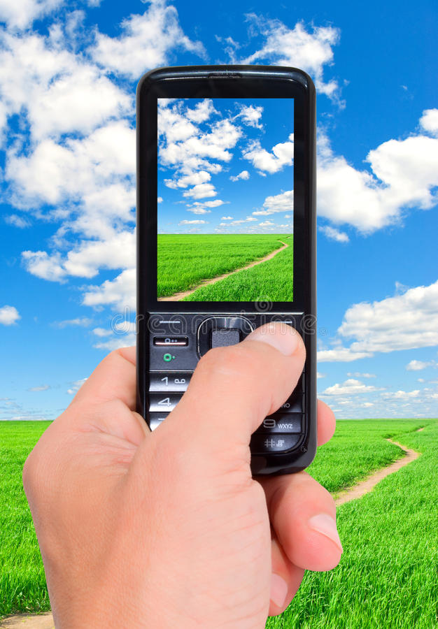 Teléfono celular. imagen de archivo