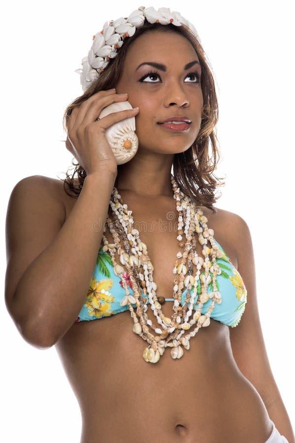 Teléfono celular de la isla imagen de archivo