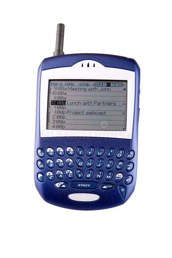 Teléfono celular de la zarzamora foto de archivo libre de regalías