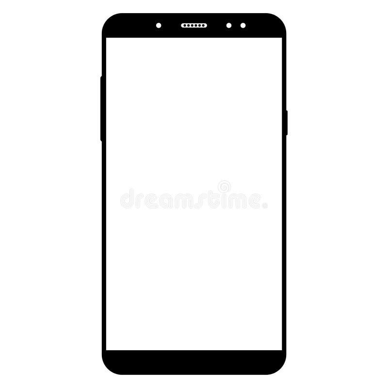 Teléfono celular de Smartphone en un fondo blanco libre illustration