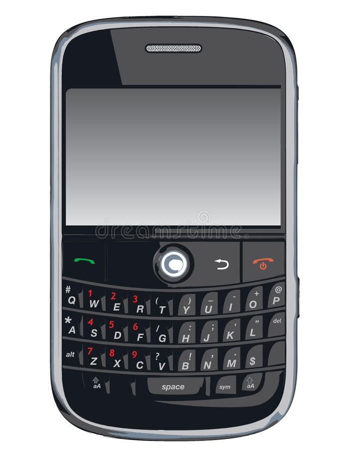 Teléfono celular del vector/PDA/zarzamora libre illustration